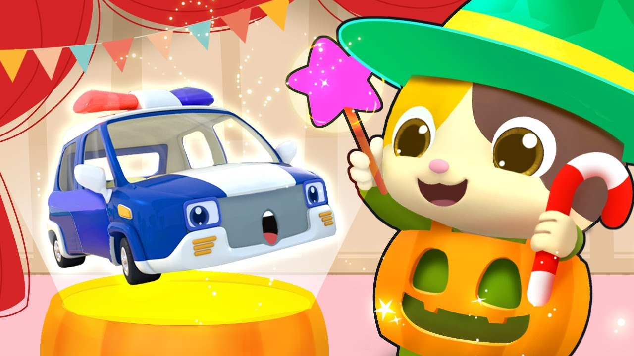 Police Car, Fire Truck, Ambulance - Halloween Party | Kids Songs | Kids Cartoon | BabyBus