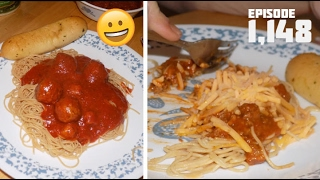 HAVING PASTA AND MEATBALLS!! - February 05,2017 (Day 1,148)
