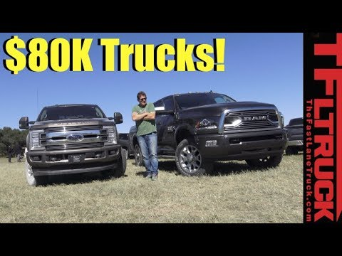 2018 Ford F250 Limited Vs Ram Hd 2500 Tungsten Most Expensive Luxury Trucks Compared