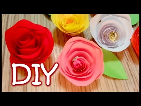 Twisted Paper Rose - How to Make an Easy Rose Out Of Paper - YouTube