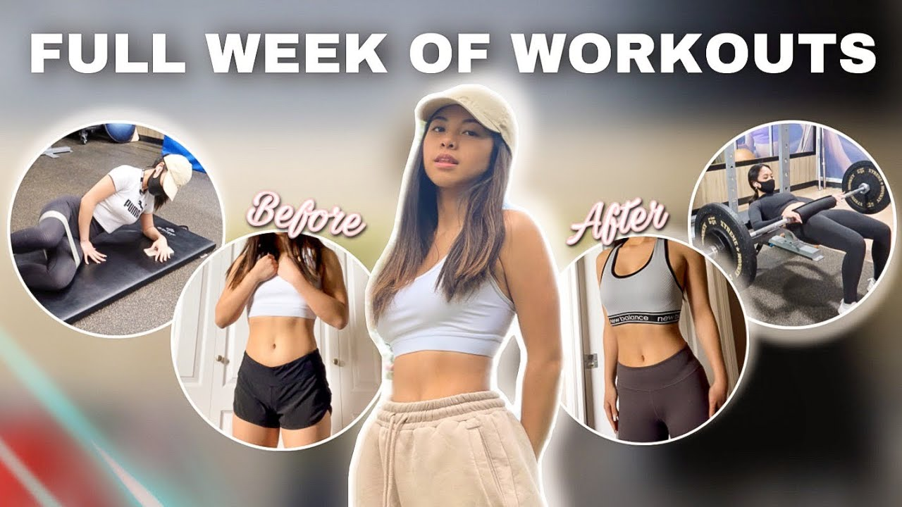 A FULL WEEK OF WORKOUTS! (trying to stay fit)