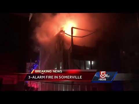 Dozens displaced in Somerville fire