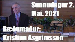 Ræðumaður: Kristinn Asgrimsson.