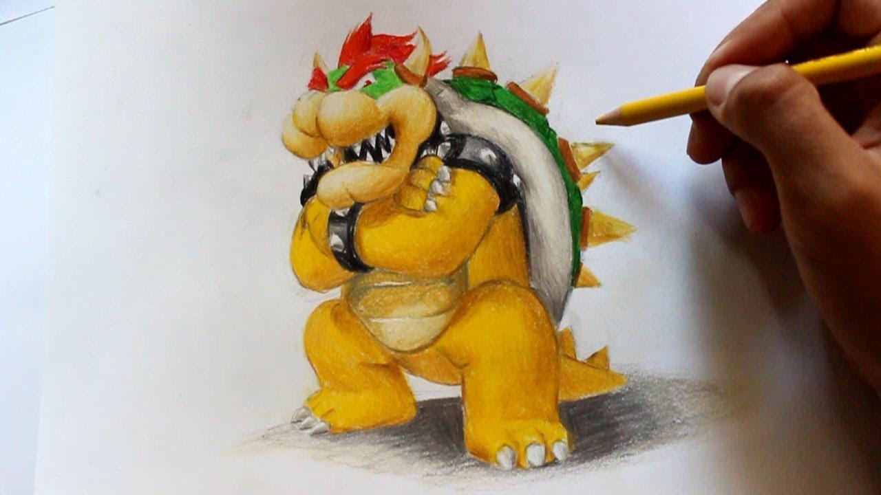 Wie zeichnet man Bowser in 3D [Super Mario] zeichen tutorial - YouTube