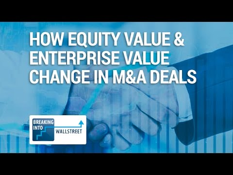 How Equity Value & Enterprise Value Change in M&A Deals