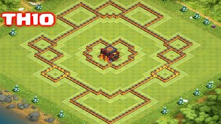 Clash of Clans - TownHall10 Trophy/War Base | New Update | Heart of a Champion