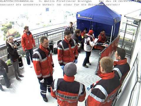4. Berliner Firefighter Stairrun 2014 Webcam Ziel ab 12:37 Uhr