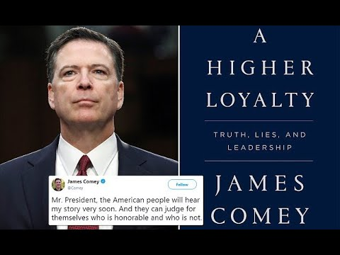 Image result for Comey with his book