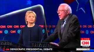 Bernie Literally Shuts Up Hillary During Dem Debate