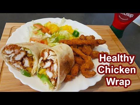 chicken-wrap-recipe- -chicken-shawarma-recipe- -recette-de-poulet-grec- -fried-chicken-wrap-recipe
