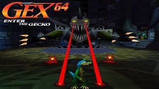 Gex 64 : Enter The Gecko (N64) // All Bosses
