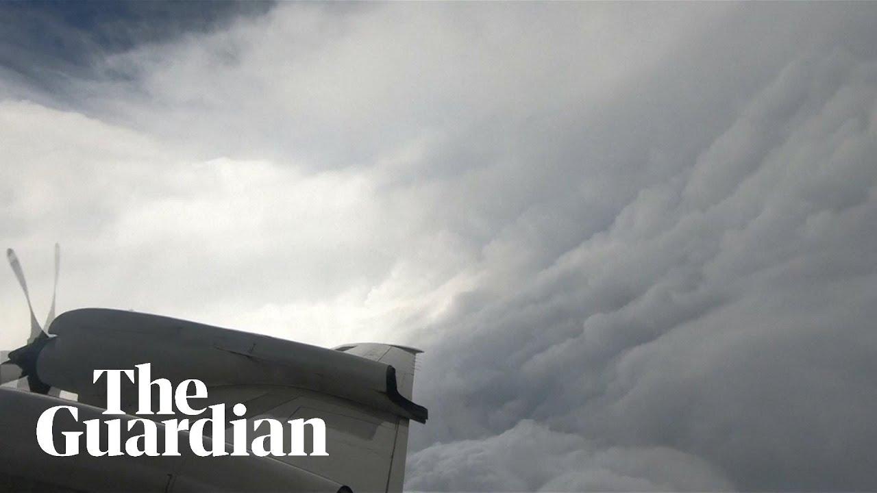 Flying through Hurricane Florence