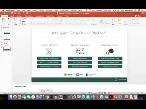 CODiE Best Big Data Reporting and Analytics Solution Demo
