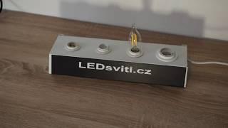 STMÍVATELNÁ LED ŽÁROVKA E14 RETRO 4W SVÍČKA TEPLÁ BÍLÁ | LEDsviti | 2934