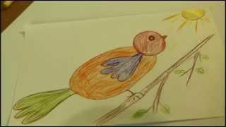 Рисуем быстро и просто.Как нарисовать птицу(Это видео уроки рисования карандашом для детей, с помощью которых можно нарисовать рисунок даже без навыко..., 2015-09-24T05:03:22.000Z)