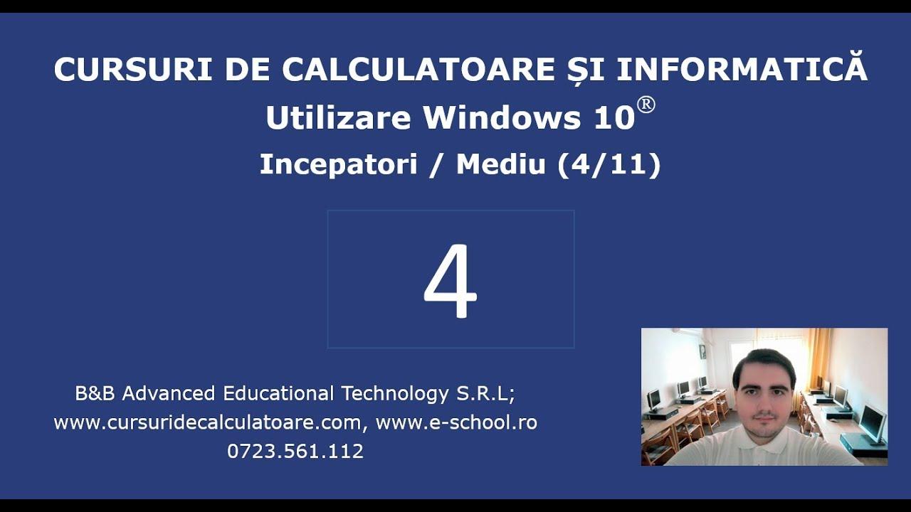 Curs de Windows 10 / Utilizare PC pentru incepatori - 4 / 11 – Programe, tastatura, foldere, fisiere