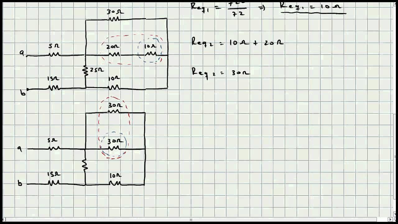 ejercicio resistencia equivalente - circuitos electricos - video 034