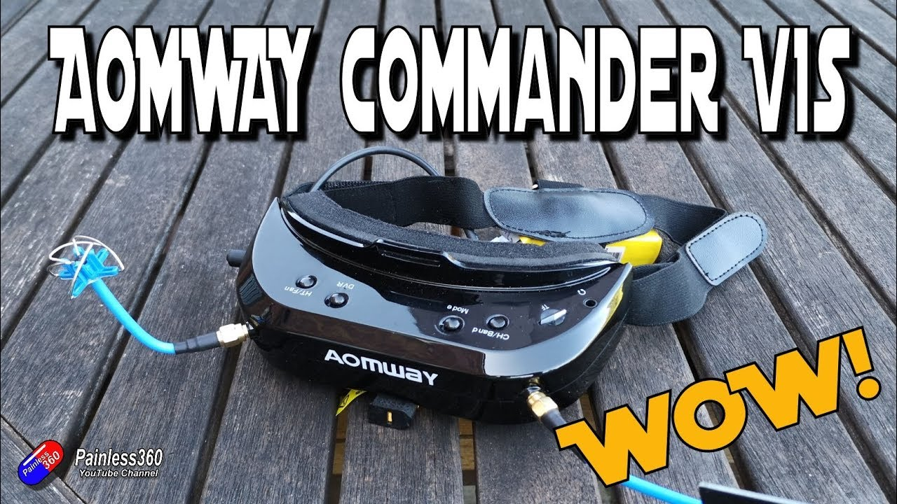 AOMWAY Commander V1S FPV Goggles 5 8Ghz 64CH Diversity 3D HDMI Built-in DVR  Fan Support Head Tracking For RC Racing Drone