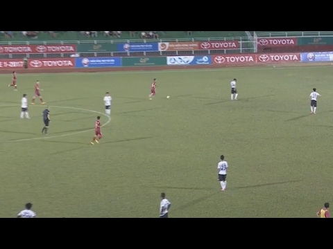 Vietnamese football team refuse to continue playing after controversial penalty – video