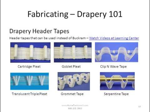 Drapery 101 - How to Fabricate Drapery Panels