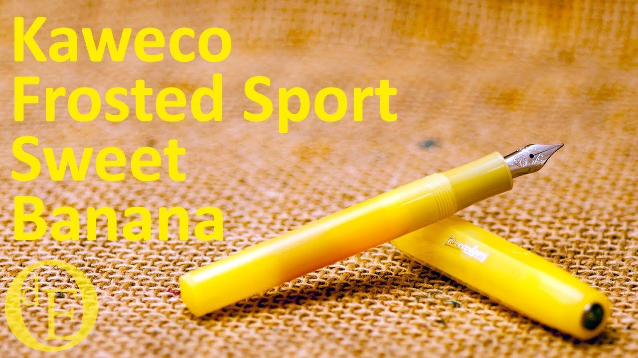 Kaweco Sport FROSTED Estilográfica Sweet Banana M punta mediana
