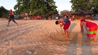 Funny beach game. Larga meets BUROT BEACH