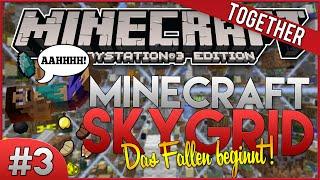 Minecraft PS3 - SkyGrid #3 - Bosshafter Fahrstuhl! [German]