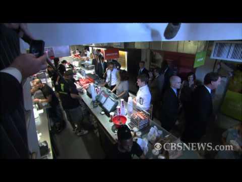 """Where's the """"Good Stuff?"""" Obama makes burger run"""