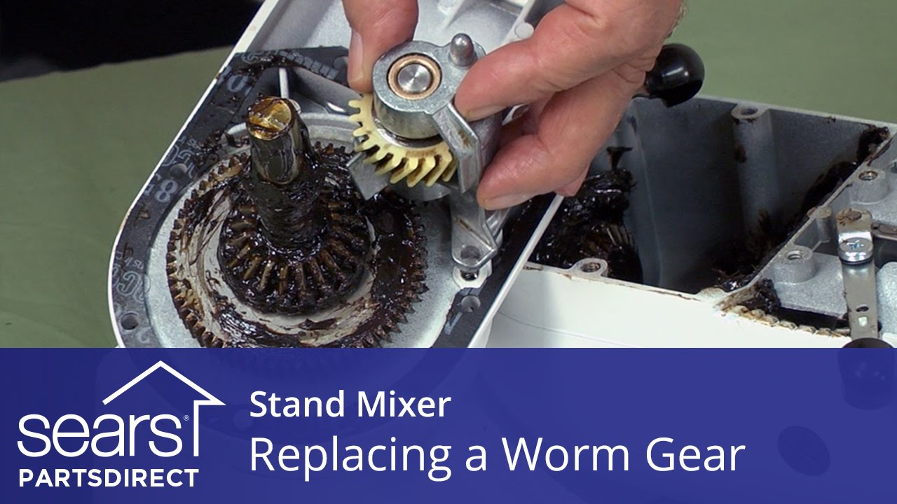 Replacing a Worm Gear in a Stand Mixer  YouTube