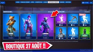 FORTNITE BOUTIQUE of AUGUST 27, 2019! BACK SKIN DREAM!