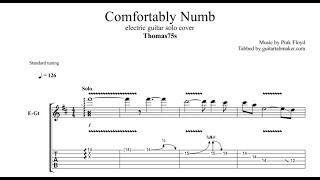"""Pink floyd - comfortably numb guitar solo tab in prothis follows the cover played by """"thomas75s"""" and includes his improvisation part toosta..."""