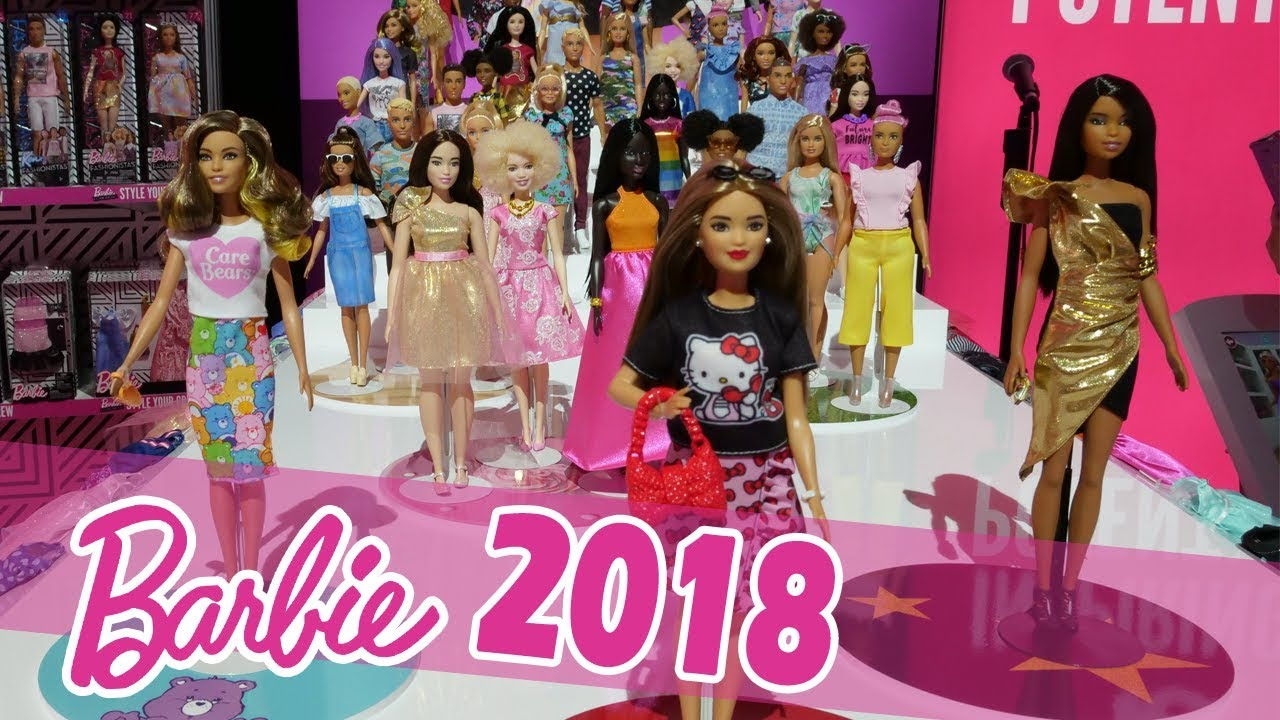 New Barbie Fashionista Dolls 2018 & More