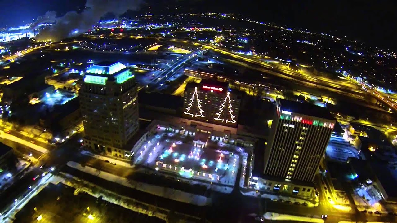 colorado springs christmas lights by helicopter december 2013