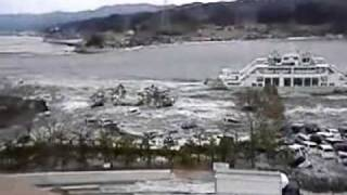 Новые кадры землетрясения в ЯПОНИИ.