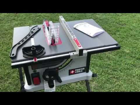 Porter Cable Table Saw 10 Inch Portable Pcx362010 From Lowes Review By Mr Tims Youtube