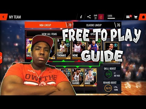 THE ULTIMATE FREE TO PLAY GUIDE FOR NBA LIVE MOBILE 18!!!