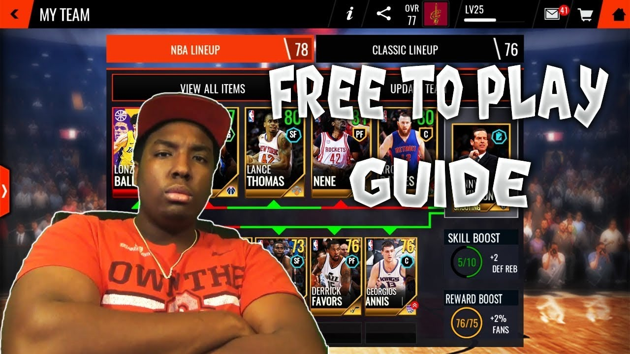 The Ultimate Free To Play Guide For Nba Live Mobile 18
