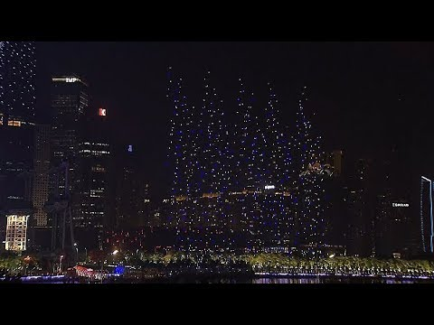 1,180 Drones Stage Air Performance in Guangzhou
