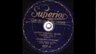 Lonesome Cowgirl  Anniversary Blue Yodel No 7 SUPERIOR 2631 1930