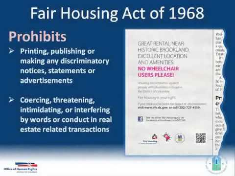Equal and Inclusive Housing: Knowledge for Stakeholders Webinar (Part 2: About Fair Housing Act)