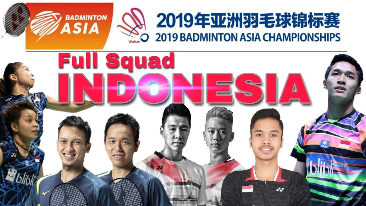Badminton Asia Championships 2019  Wakil Indonesia dan Lawannya di Babak  Pertama