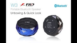 F&D W-3 Bluetooth Speaker Unboxing & Quick Look