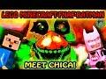 Funny LEGO FNAF | OOOH NOOO! LEGO Minecraft Steve Babysits FNAF Chica!