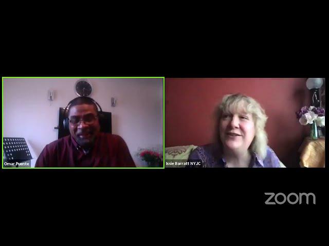 #NationalYouthJazz Wednesday: Issie Barratt in conversation with Omar Puente