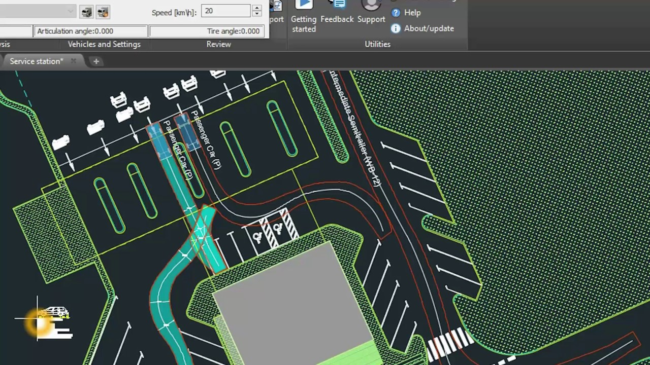 Autopath PRO and LT - Vehicle swept path analysis software