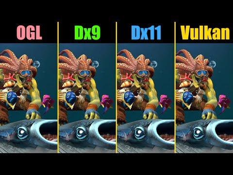 Dota 2 OpenGL Vs. Dx9 Vs. Dx11 Vs. Vulkan