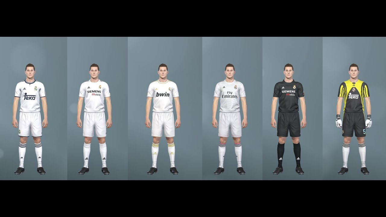 timeless design 41de5 9e391 PES 2019 classic Real Madrid kits (PC, PS4) Teka, Siemens, Benq, Fly  Emirates and more