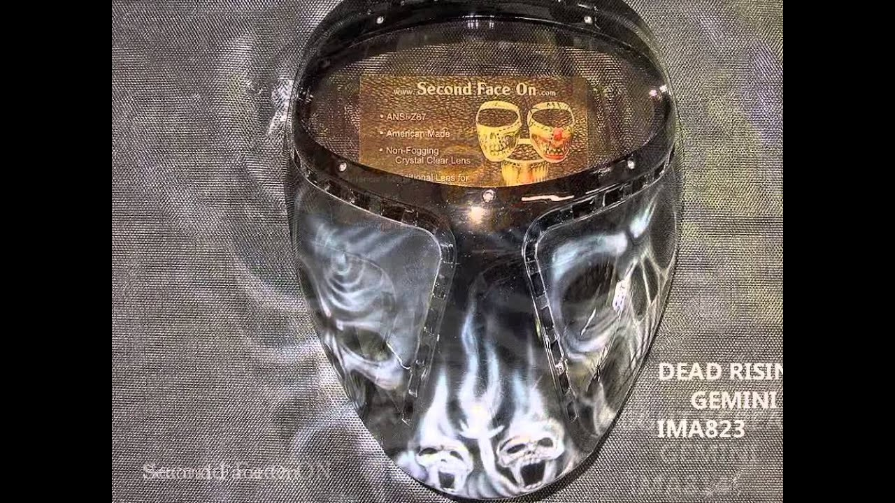 Second Face On Motorcycle Mask >> Motorcycle Face mask changes faces hand airbrushed - YouTube