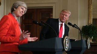 Entire Trump - British PM news conference