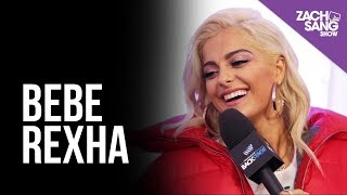 Bebe Rexha talks Lip Syncing & Florida Georgia Line I Backstage at the AMAs